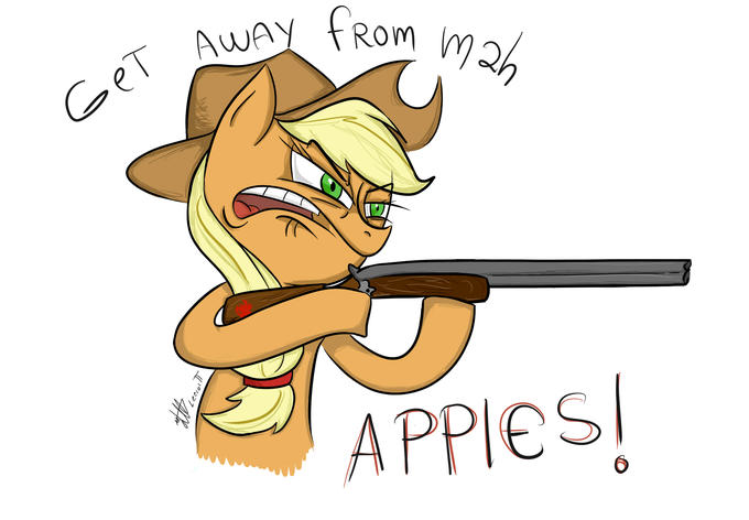 GET AWAY FROM MAH APPLES!!!!