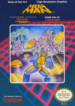 Mega Man 1 box artwork