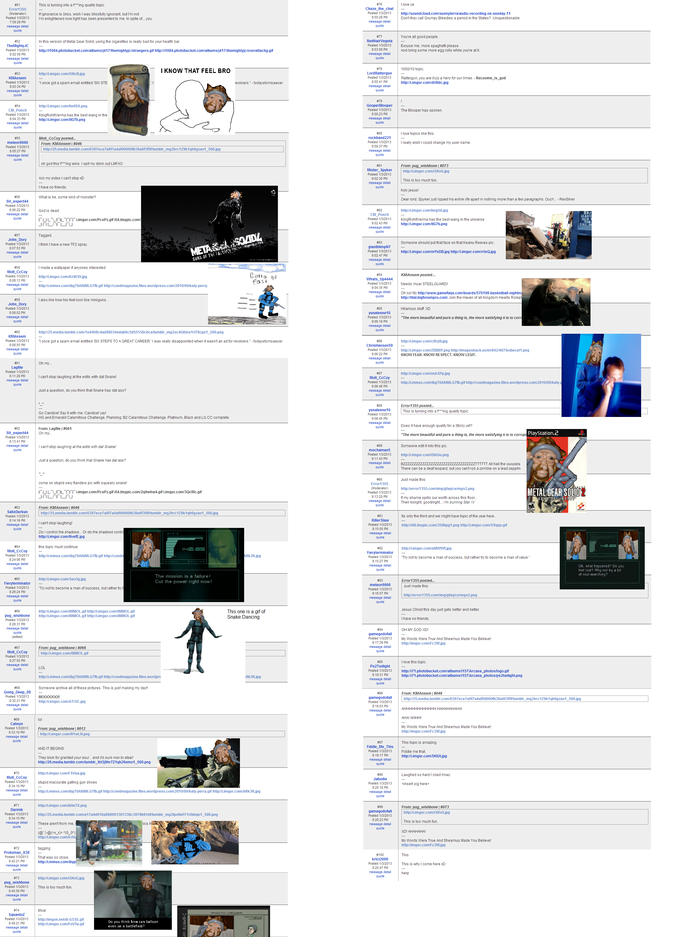 """RIP Solid Snake"" topic from Gamefaqs Current Events board - Page 2"