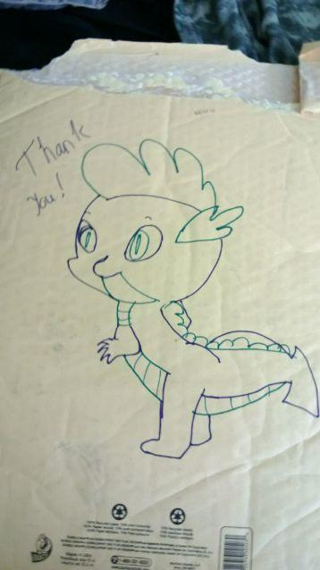 found this on the back of my etsy package today :D