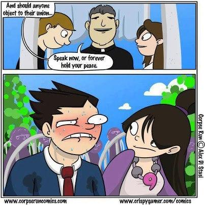 and that is the reason that Phoenix Wright will not marriages