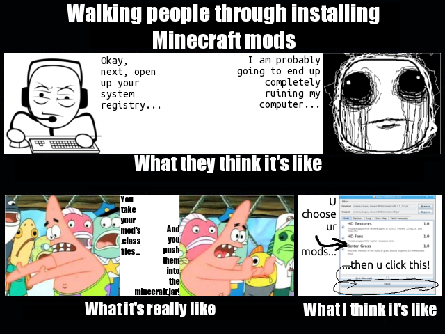 Walking people through installing Minecraft mods