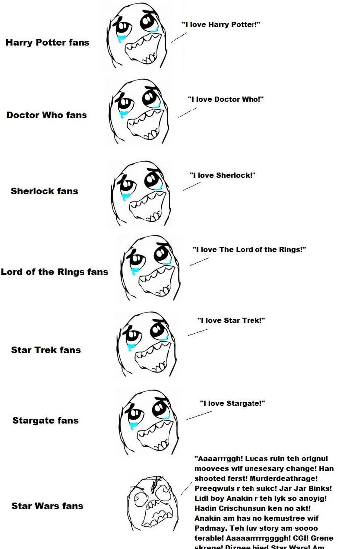 A quick and easy way to tell fandoms apart