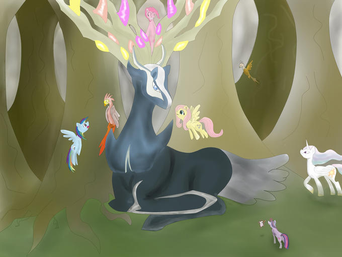 Xerneas meets the ponies