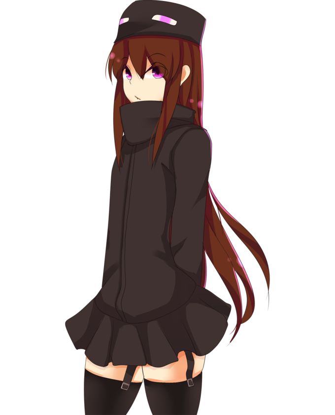 Human Enderman (or in this case, Endergirl)