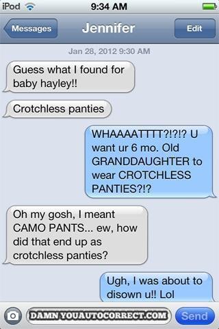 Crotchless panties?
