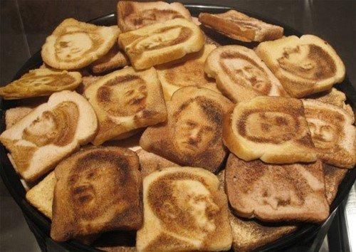Hitler Shaped Toasts