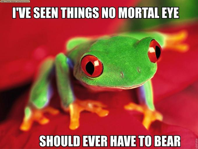I've Seen Things No Mortal Eye Should Ever Have to Bear