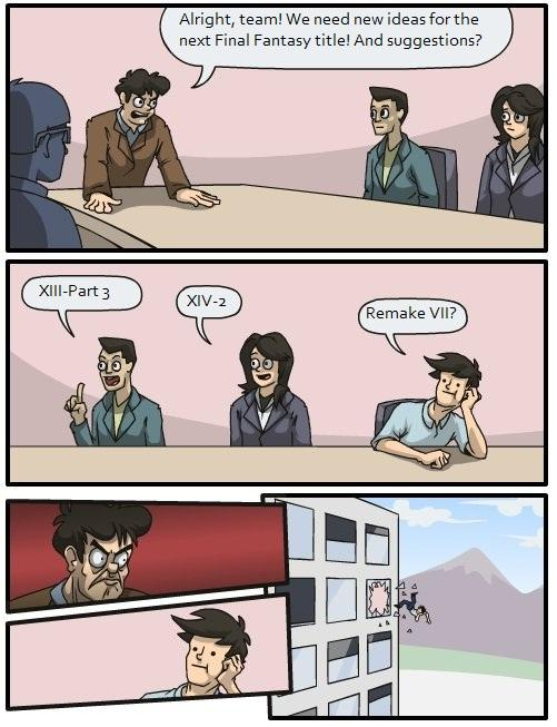 Boardroom Suggestion Final Fantasy
