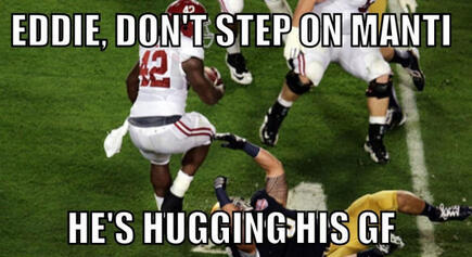 Te'oing in the BCS Championship game