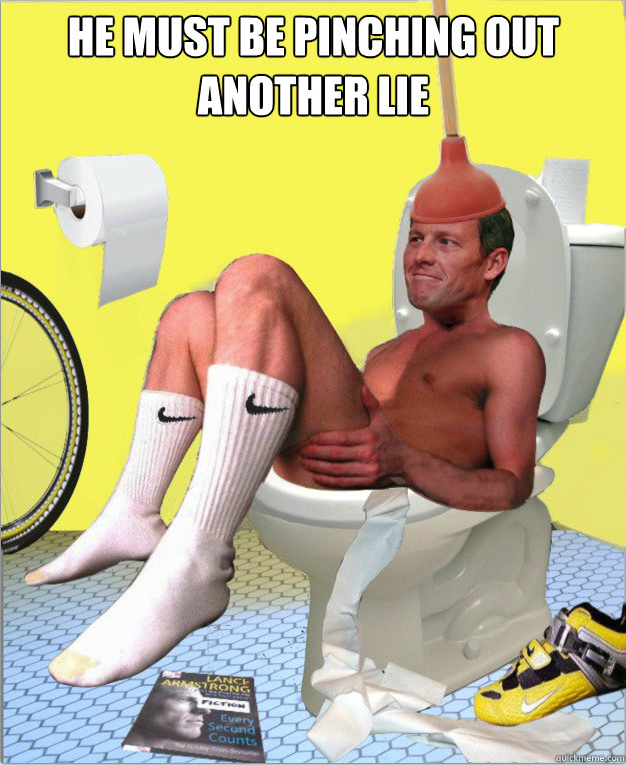 flushed lance armstrong