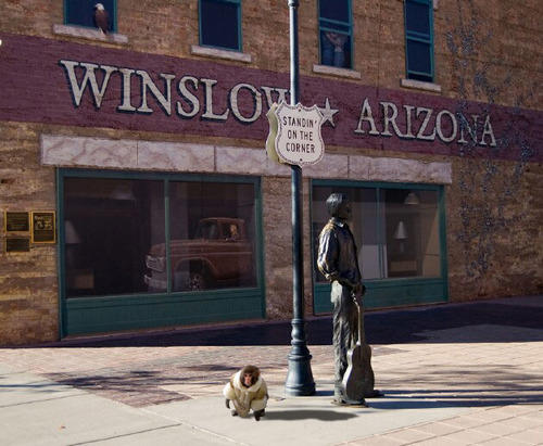 Standing on a Corner in Winslow Arizona