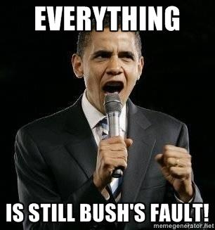 EVERYTHING IS STILL BUSH'S FAULT