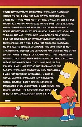 Bart Simpson's Chalkboard Parodies   Know Your Meme