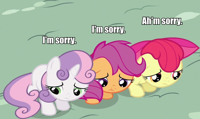 I think a certain group of fillies needs a group hug.