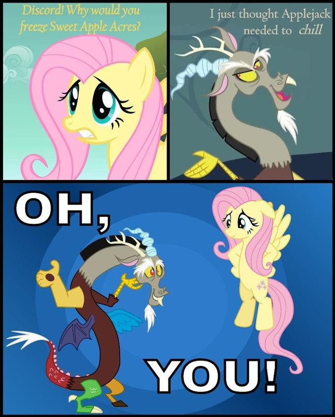 Fluttershy/Discord - Oh You!