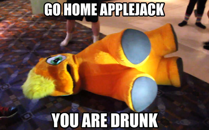 Go Home Applejack, You Are Drunk