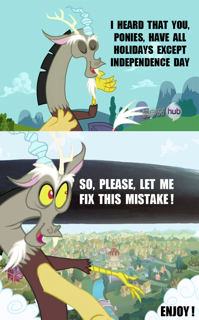 How Discord thanked ponies for reforming