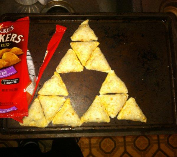 The Triforce of Nacho Cheese Chips