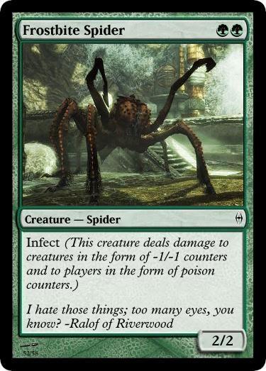 Frostbite Spider MTG card