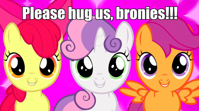Hugs for the Cutie Mark Crusaders?