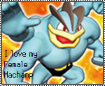 Female Machamp stamp