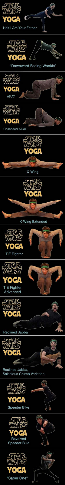 Star Wars Yoga Moves