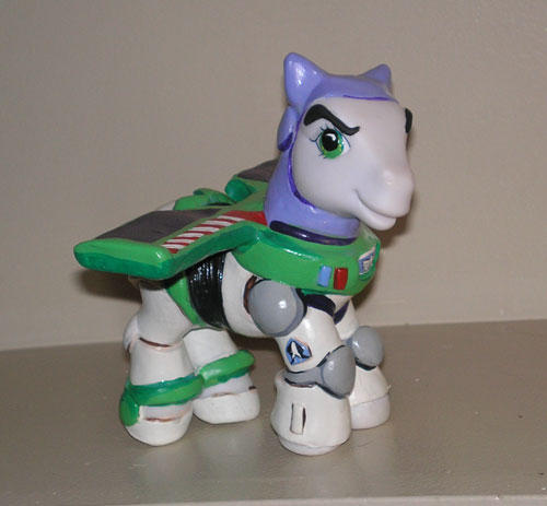 Buzz Lightyear pony model