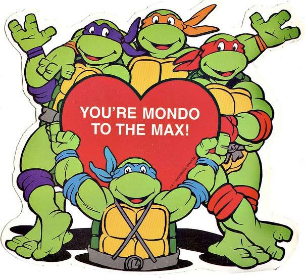 Classic TMNT Valentine's Day Cards