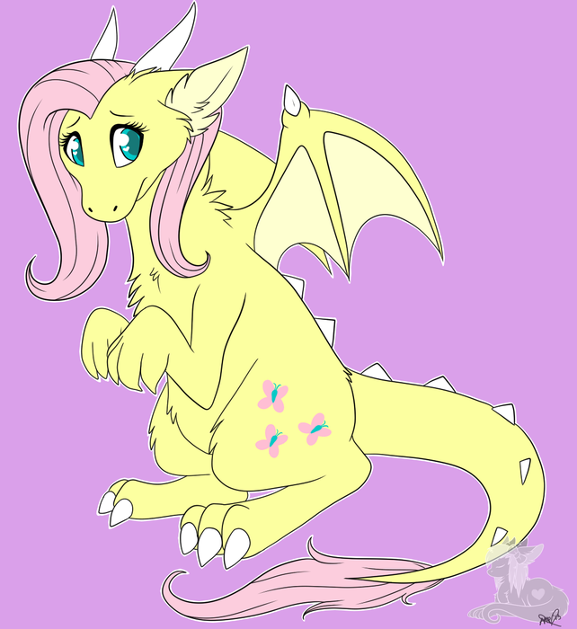 Fluttershy is cutest dragon