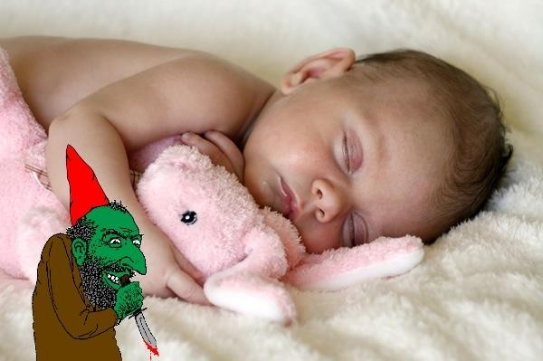Sleeping Baby and Gnome