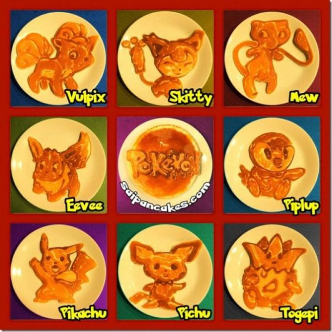 Pokemon Themed Pancakes
