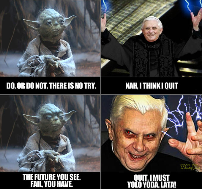 YOLO Yoda #pontifex