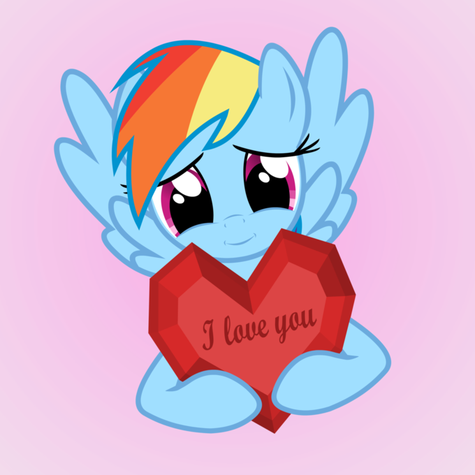 Rainbow Dash loves you