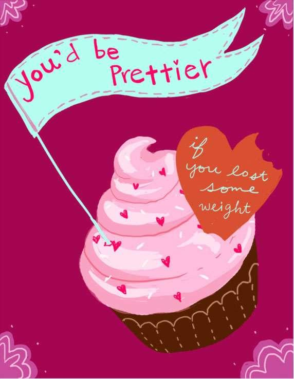 anti-valentine's day card with cupcake | valentine's day e-cards, Ideas