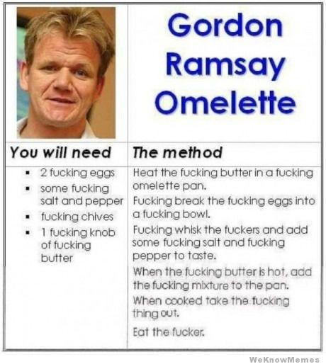 The Gordon Ramsay Omelette