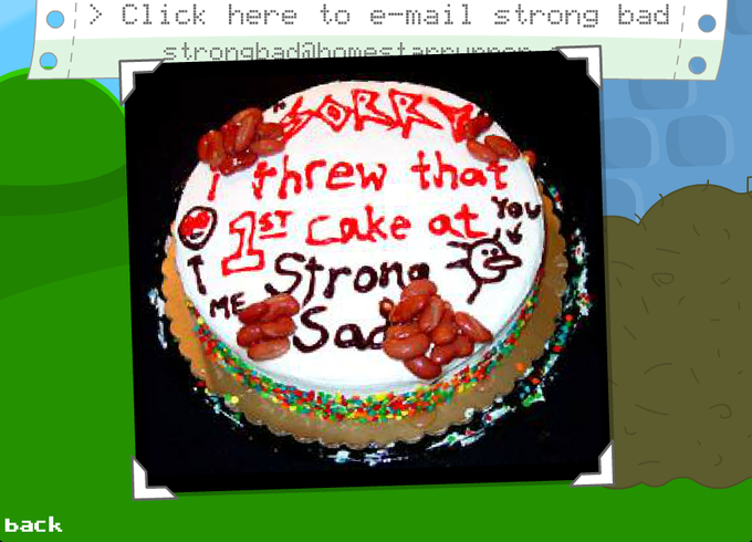Strong Bad's Apology Cake IRL