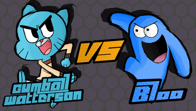 Gumball vs Blue Fighting is Magic Fan Art