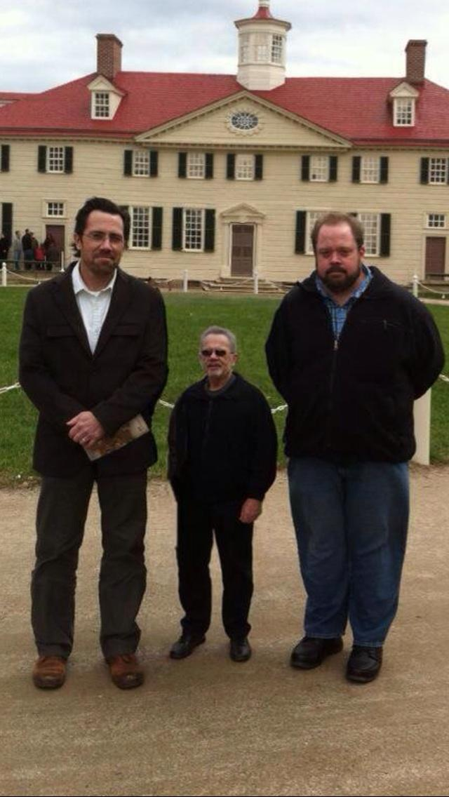 Dad and us at Mt. Vernon
