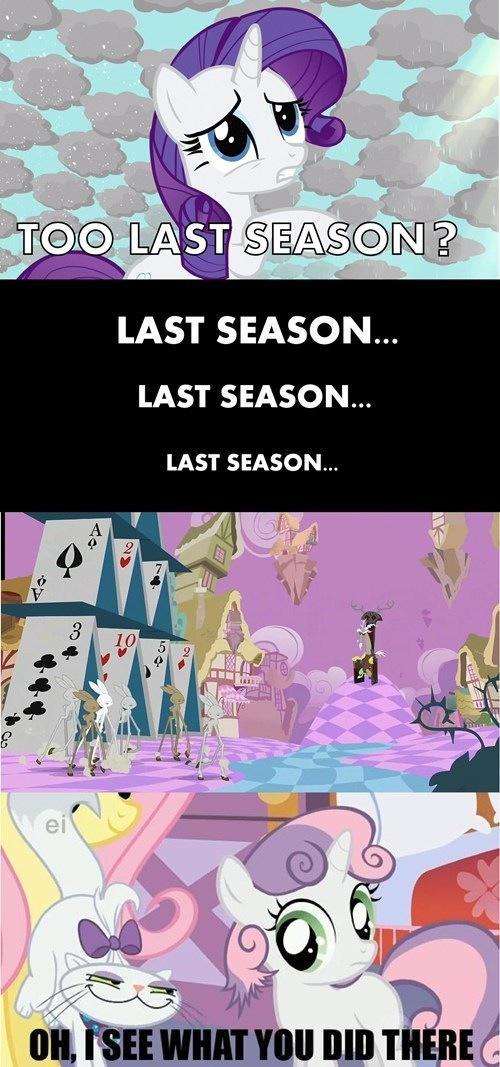 Too last season?