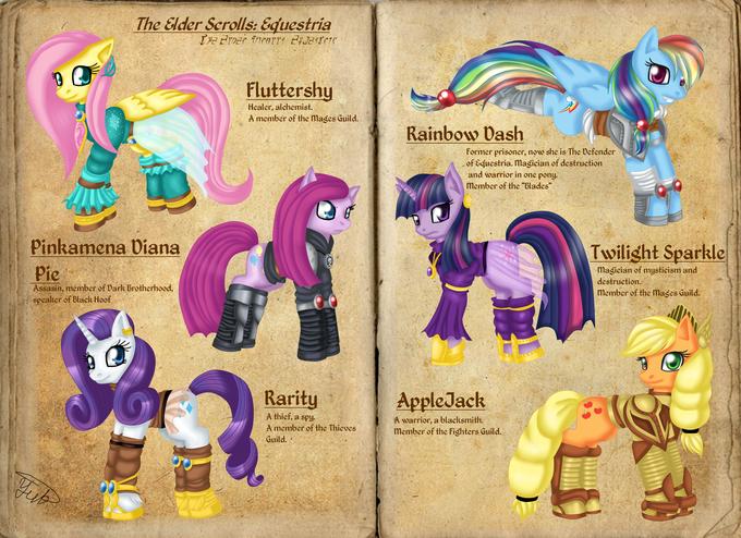 TES: Equestria - main characters