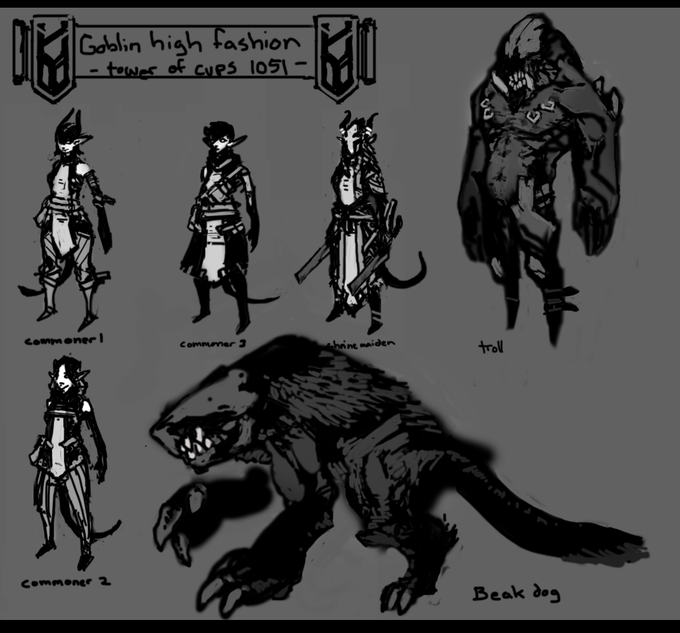 The Goblin Menace, Illustrated.