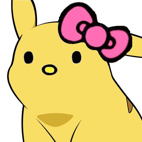 Hello Kitty Pikachu Face