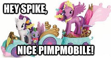 Hey Spike, nice pimpmobile!