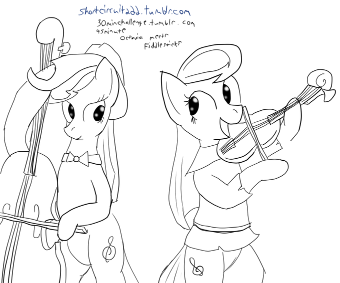 30 min. art challenge : Octavia+Fiddlersticks
