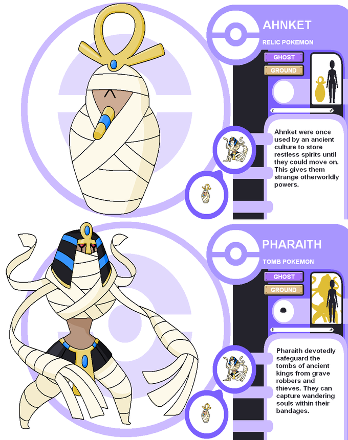 Egyptian tomb Fakemon Ahnket and Pharaith