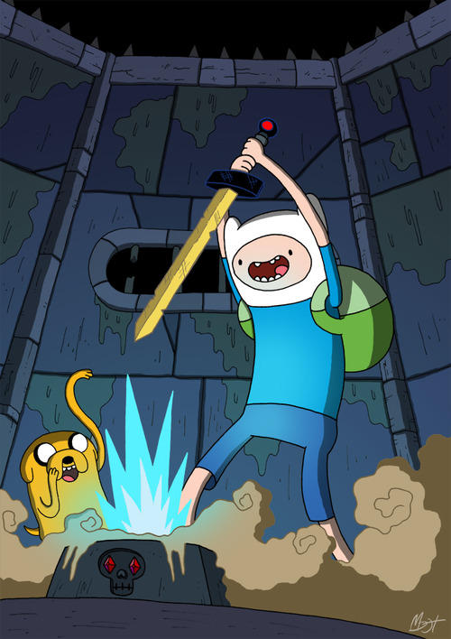 How Finn Found His Golden Sword Adventure Time Know