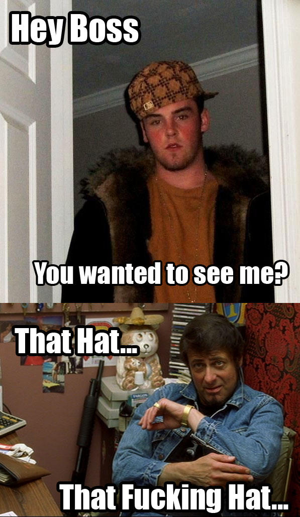 Scumbag steve talks to his boss