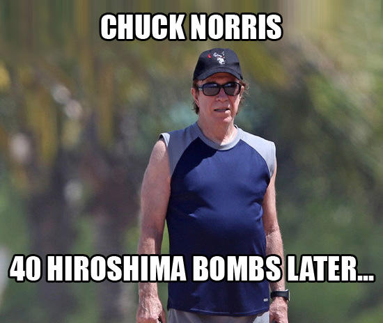 Chuck Norris Shaved His Beard