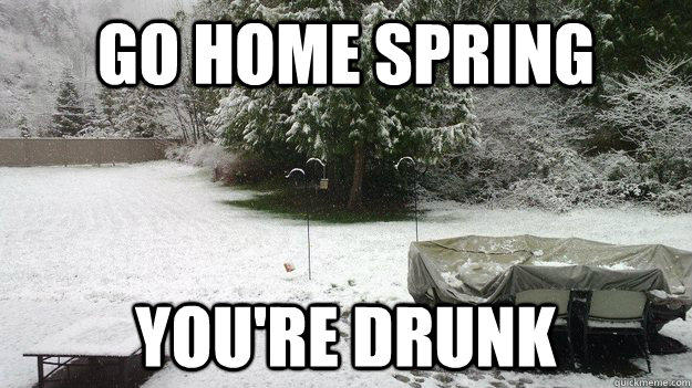 Go Home Spring, You're Drunk!